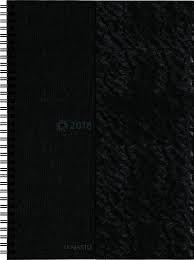 Pöytäkalenteri 2018, Päivämuistio/Dagsmemorial A4, musta, wire-sidottu
