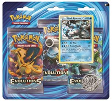 Poke Blister, 3-pack, XY12 Evolutions, Black Kyurem, Pokémon