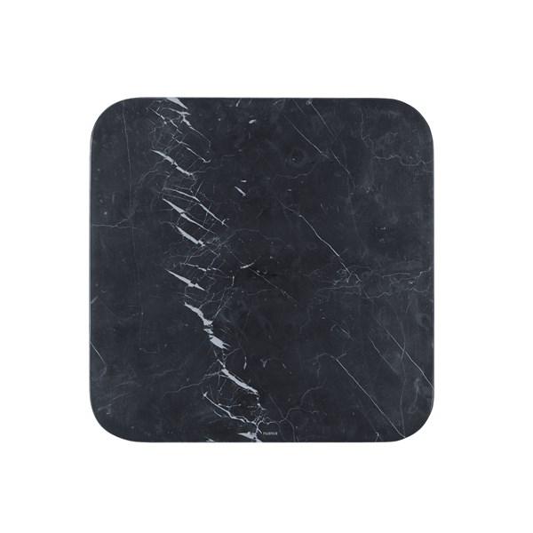 Nuance Serveringsfat 30x30x1 cm Svart Marmor - fat & serveringsskålar