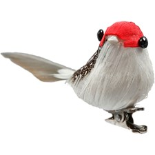 Lintu, kork. 3,4 cm, lev. 8 cm, 4 kpl, punainen