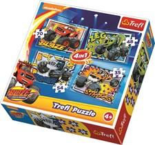 4-i-1 pussel, Blaze och Monstermaskinerna, Trefl
