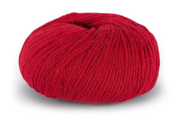 Du store Alpakka Mini Sterk Garn Ullmix 50 g Rød 828