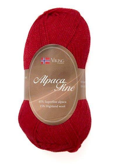 Viking of Norway Alpaca Fine 50 gr tummanpunainen