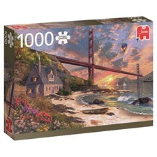 Puslespill, Golden Gate Bridge, 1000 brikker, Jumbo