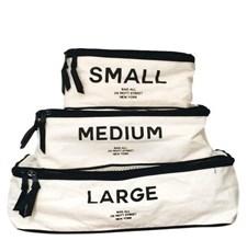Bag-all Packing cubes Pack Pussit 3 Kpl Puuvilla Musta/Valkoinen