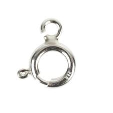 Smykkelås, fjær, 8 mm, 10 stk., sterling sølv