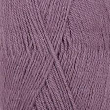 Drops, Flora Uni Colour, Garn, Ullmiks, 50 g, Ametyst 09