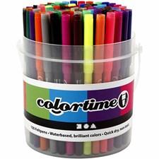 Colortime Tusj - sortiment, strektykkelse: 2 mm, ass. Farger, 100stk.