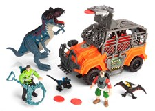 Dinosaurieset med jeep