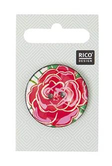 Nappi, ruusu, pinkki, 3,4 cm