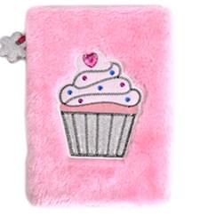 Anteckningsbok Plysch A5 Rosa Cupcake