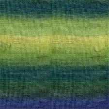 Drops, Delight Print, Garn, Ullmiks, 50 g, Grønn/blå 16