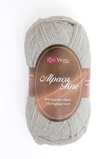 Viking of Norway Alpaca Fine Garn Alpackamix 50 g pärlgrå 612
