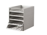 Blankettboks Idealbox Basic 5-hyller grå