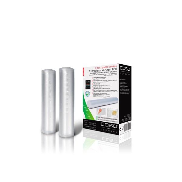 Caso Vakuum Rullar 2 - pack 20x600 cm Transparant - tillbehör & reservdelar