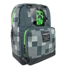 Minecraft Harmaa Creepy Creeper Selkäreppu