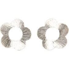 Berlocker Blommor 20 mm Borstat Silver 4 st
