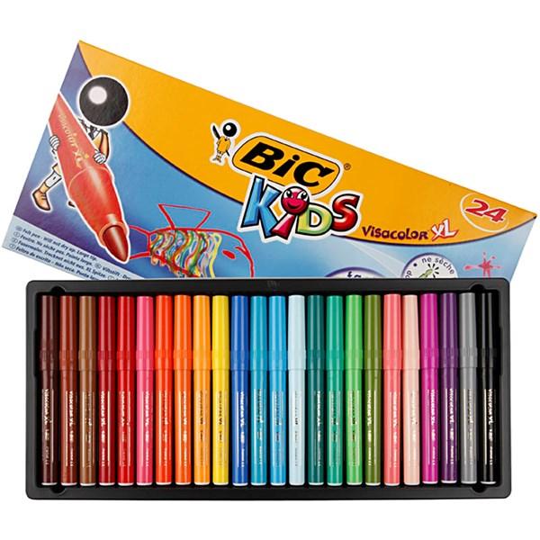 Tuschpennor Kids 3 mm 24 Färger