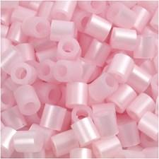 Rørperler, str. 5x5 mm, hullstr. 2,5 mm, 1100 stk., rosa perlemor (26)