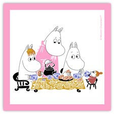 Opto Design Mumin Teaparty Servett 33 x 33 cm Rosa
