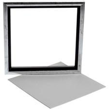 Sveveramme m. maleplate, utv. mål 25x25 cm, dybde 1,5 cm, Plate 22,4x22,4 cm, 1stk.