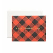 Gratulasjonskort farsdag  - Father's Day Plaid Foil