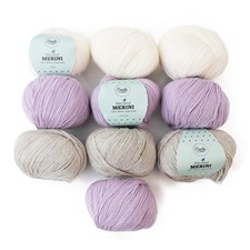 Color Pack Adlibris Merini Garn 50g Soft Lavender 10-pack