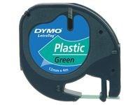 Teip DYMO LetraTag 12 mm Svart på grønn