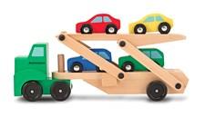 Kuljetusauto ja 4 autoa, Melissa & Doug