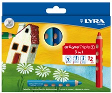 Färgpennor, Lyra Groove Triple, 10 mm 12 Färger