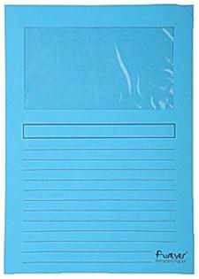Aktmapp Med Fönster A4 Blå 100 st