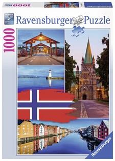 Trondheim Collage, Pussel 1000 bitar, Ravensburger