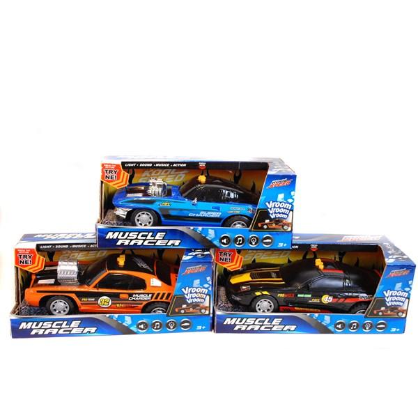 Muskelbil Med Ljud & Ljus 29 cm  orange  Muscle Racer  Summertime