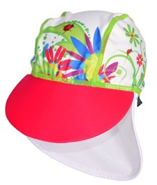 UV-hatt blommor, Vit, storlek 86-92,  Swimpy