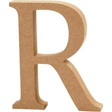 Träbokstäver R 13 cm MDF 1 st