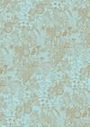 Decoupage paperi, Pitsi, turkoosi 30 x 42 cm, 1 arkki