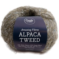 Adlibris Alpaca Tweed 50g Green Moss A735