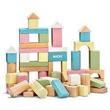 60 byggeklosser, Pastell, Micki