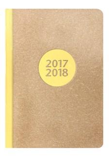 Kalender 2017-2018 Letts Letterpress A6 V/U Gul