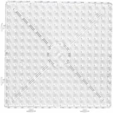 Pärlplattor Jumbo 15x15 cm Transparent 1 st
