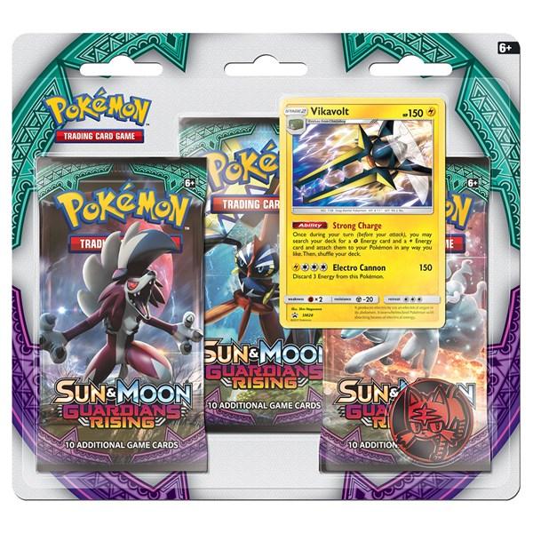 Poke Blister 3-pack  Sun & Moon 2  Vikavolt  Pokémon - figurer & miniatyrer