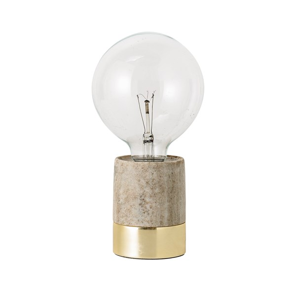 Bloomingville Bordslampa Natur Marmor Diameter8xhöjd11 cm
