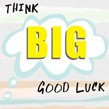 Kort med Kuvert Think Big Good Luck Black Olive