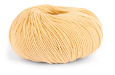 Knit At Home Classic Cotton Merino Garn Ullmix 50 g Ljusgul 809