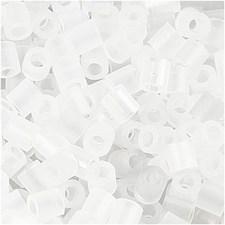 Rörpärlor, stl. 5x5 mm, hålstl. 2,5 mm, 6000 st., transparent (50)