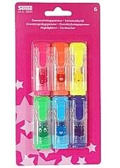 Överstrykningspenna Mini Highlighter 6 Färger