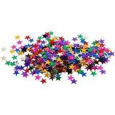 Paljetter, str. 10 mm, stjerner, 10g