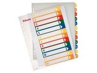 Plastregister 1-12 A4+ Flerfärgad