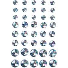 Klistermärken Strass Blå 6+8+10 mm Mix 40 st