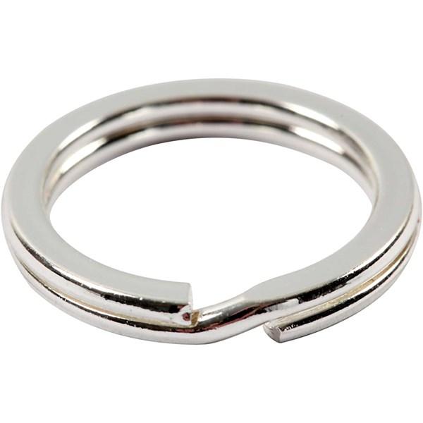 Splitring till Nyckelring dia 15 mm silverpläterad 100 st